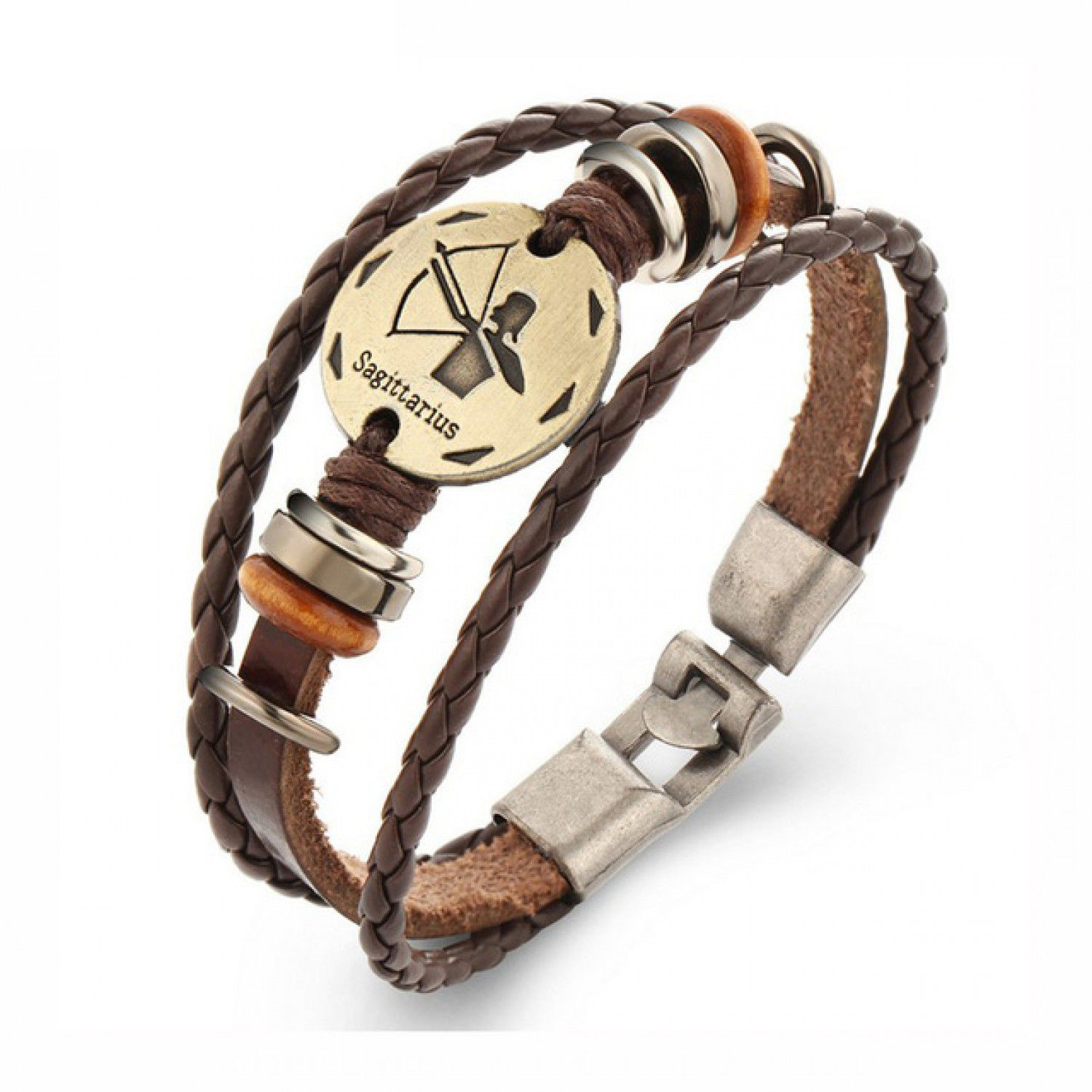 Pc constellations bracelets fashion jewelry leather bracelets