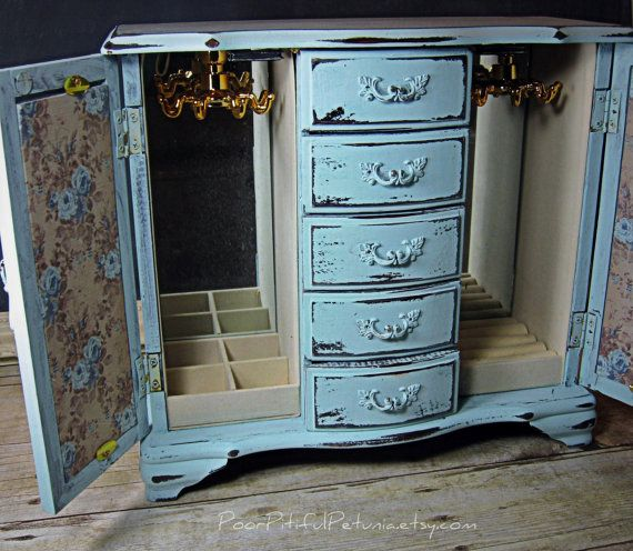 french decoupage jewelry armoire they monogram the top of it