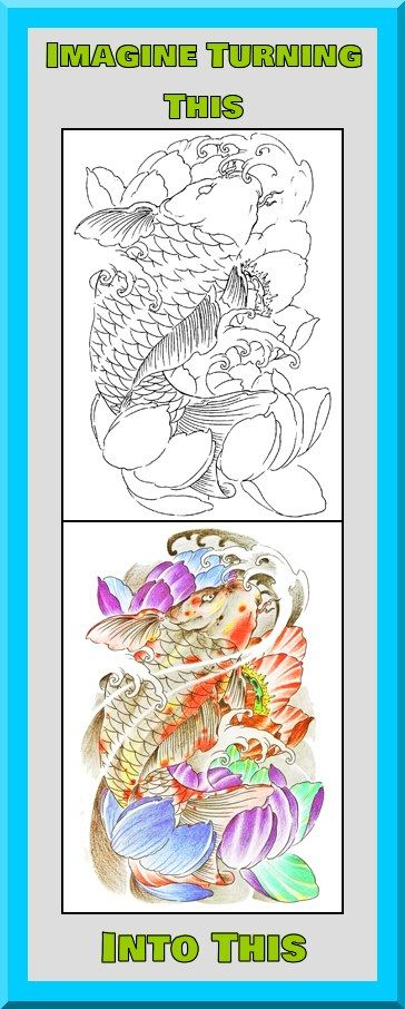 This Koi Fish Coloring Book Is 499 At Etsy More Printable