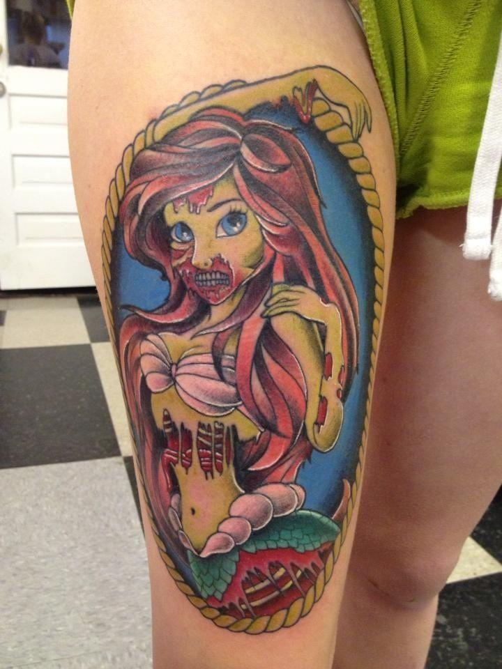 Disney Tattoos Ariel Zombie Tattoos Cute Zombie Tattoos