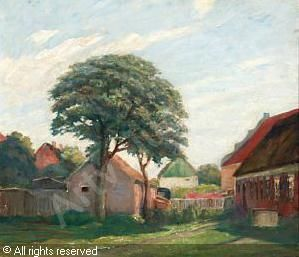 Johan Rohde 1856 1935 Sommerdag I Sonderho Pa Fano 1932 Danemark Kunst