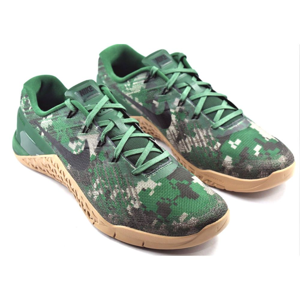 e4349a387f2c7 MENS NIKE METCON 3 CAMO CROSSFIT TRAINING SHOES CAMOUFLAGE GREEN 852928-008  11.5 #Nike #RunningCrossTraining