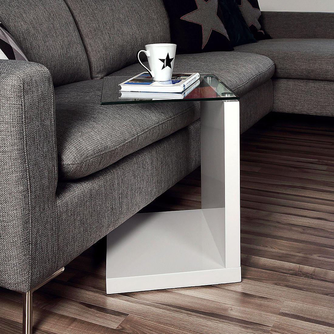 Beistelltisch Sono Hochglanz Weiss Home24 Hochglanz Mobel Beistelltisch Beistelltische Wohnzimmer
