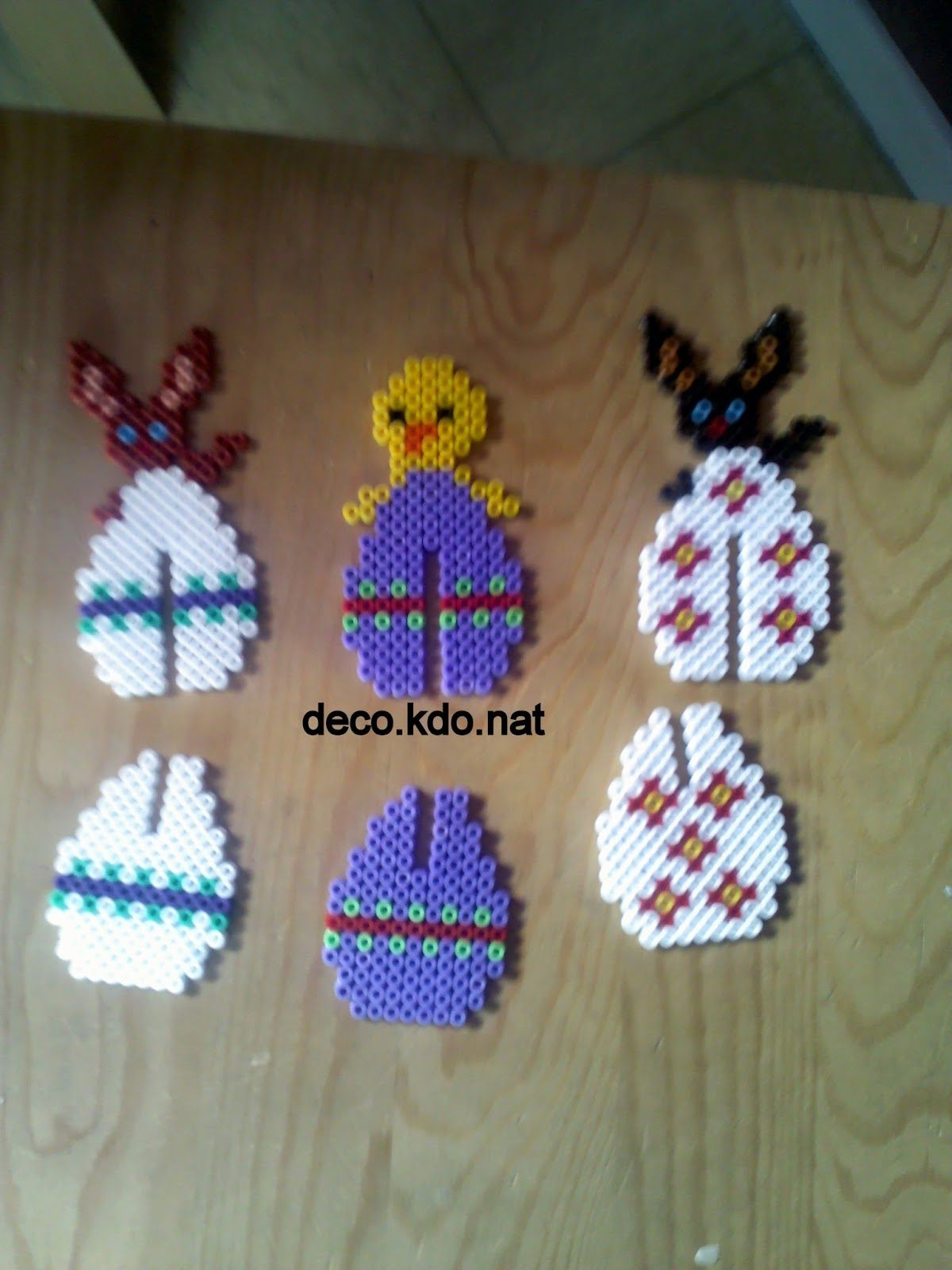 Hama bead 3D Easter eggs that can stand up as decorations, these ...