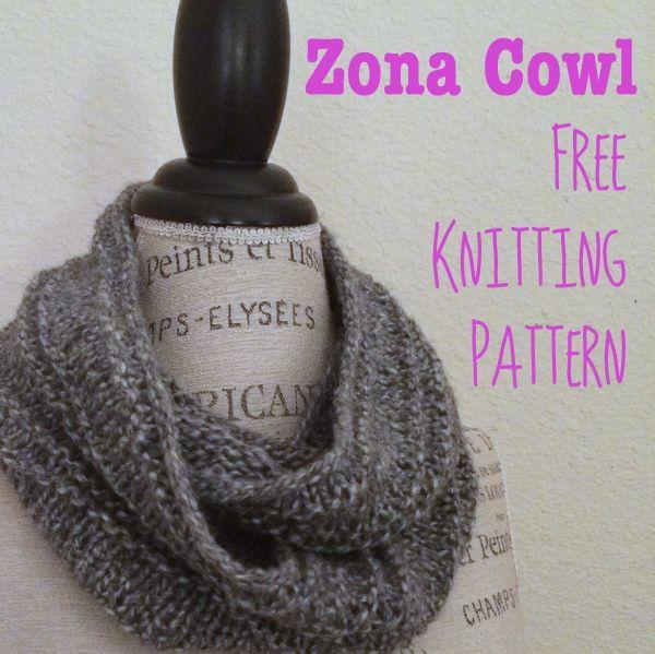 Zona Cowl Free Knitting Pattern Knitting Patterns Infinity Scarf