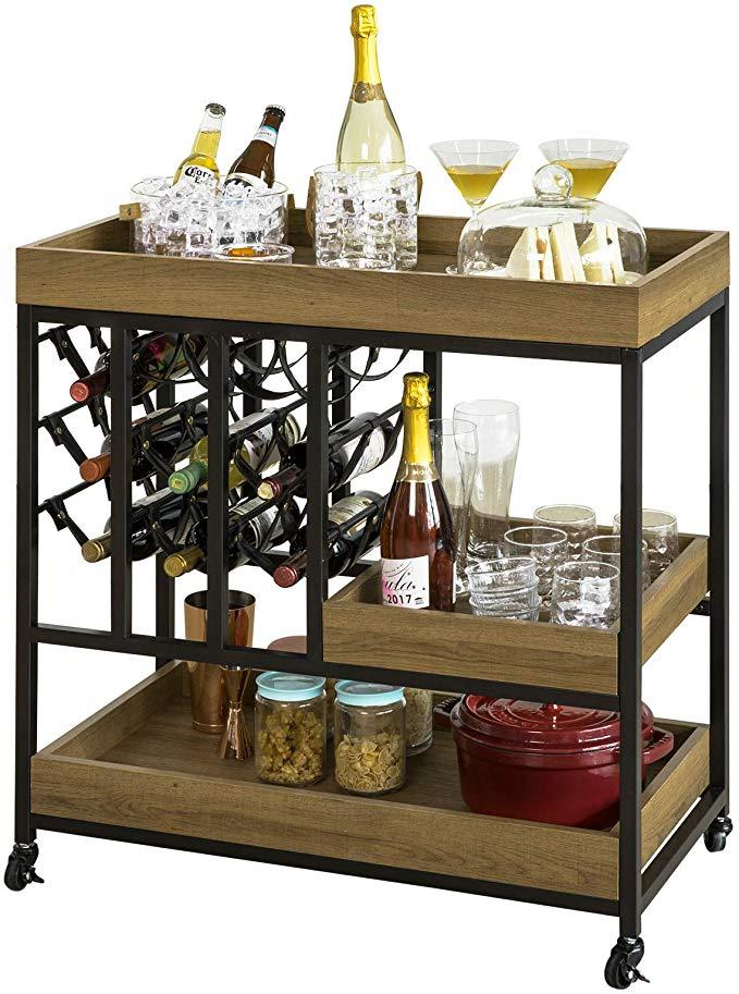 Sobuy Angolo Bar Per Casa Vintage Carrello Cucina Salvaspazio Con