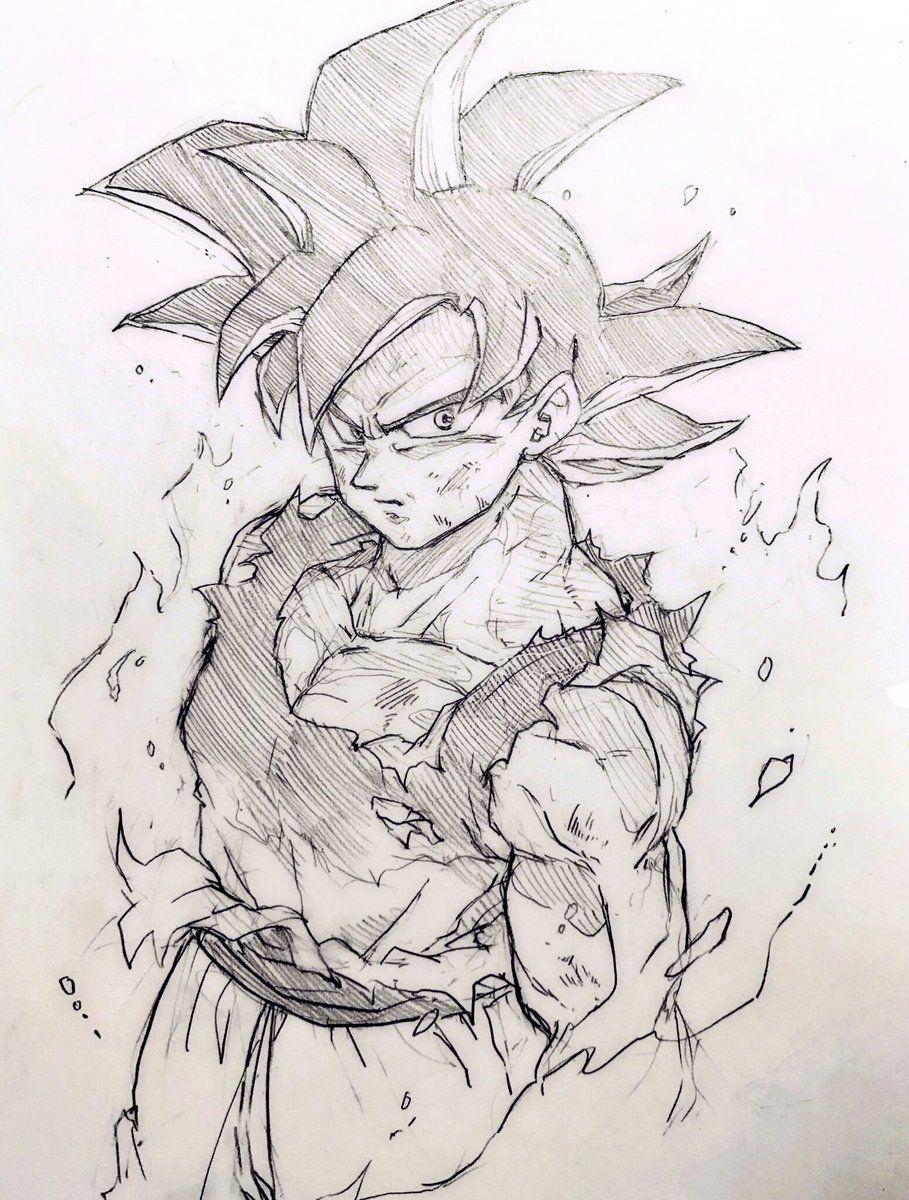 Pin by christian merrieather pitts on creative goku zeichnung zeichnungen dragon ball - Goku ultra instinct sketch ...