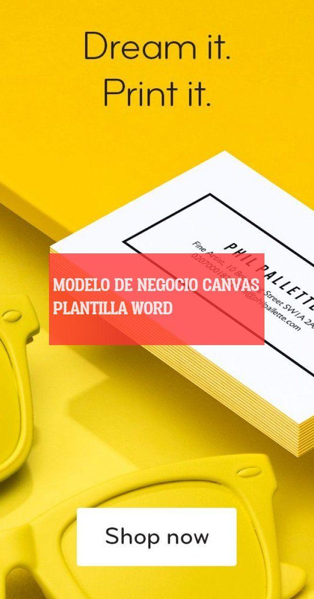 modelo de negocio canvas plantilla word