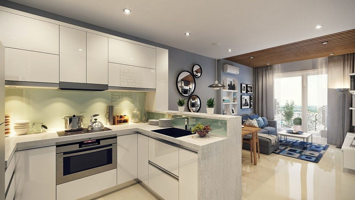 35 Outstanding Small Kitchen Studio Designs For Comfort With Images Open Plan Kitchen Living Room Open Plan Kitchen Dining Living Small Open Plan Kitchens