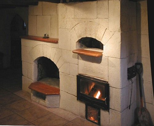 Oven Fireplace Combo Modern Kitchen Ovens Pizza Diy