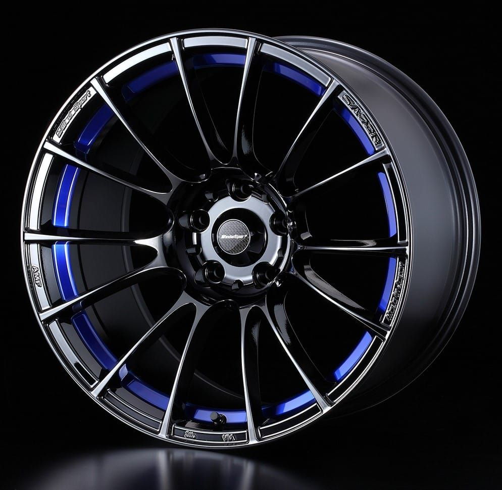 Weds Sport SA72R Blue Light Chrome II Rims for cars, Car