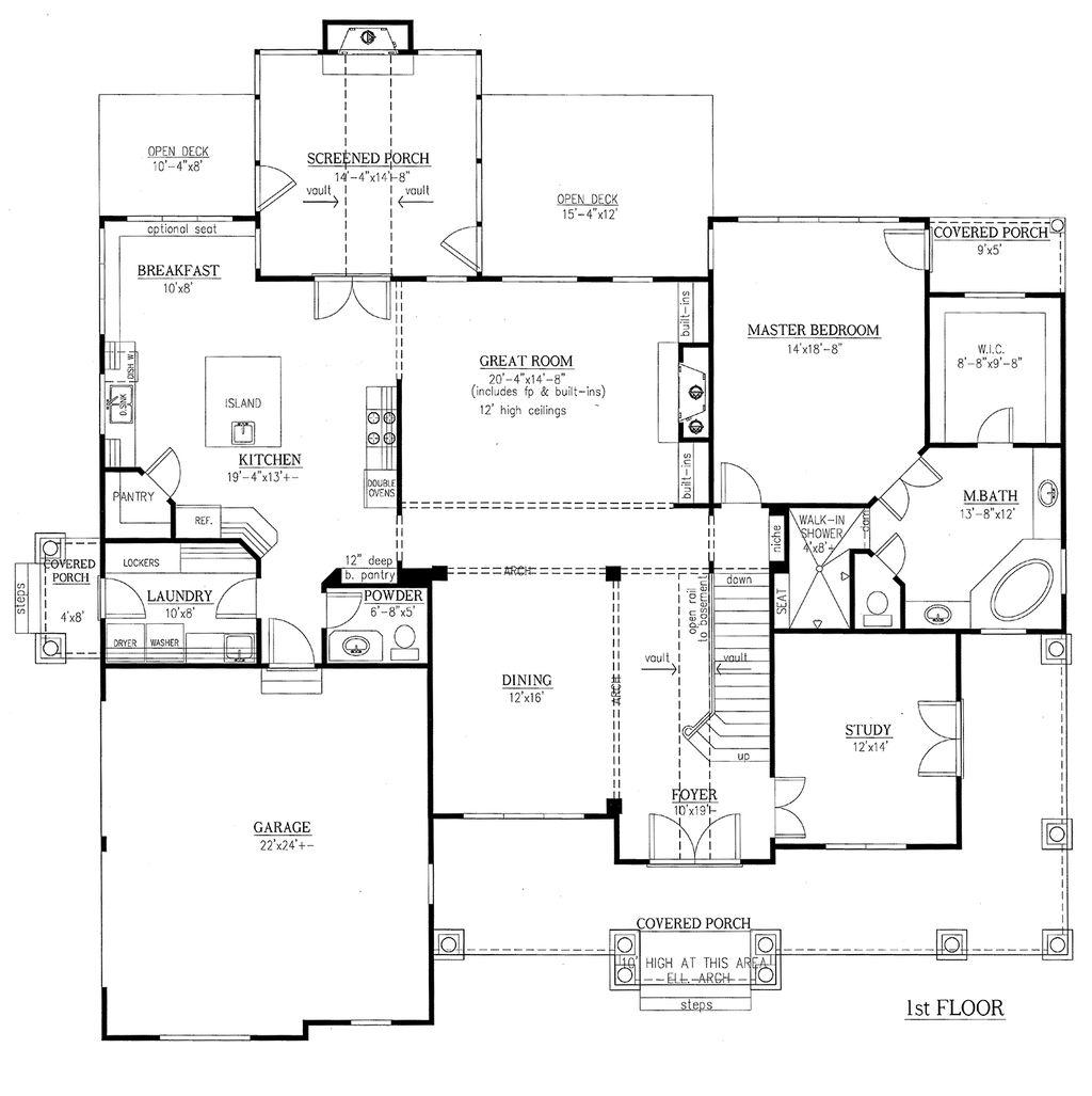 Les chambres de chambres de maître styles traditionnels plans de la maison lit et salle de bain style européen les plans détage garage 3 voitures