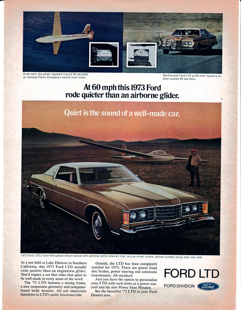 1973 Ford Ltd Quieter Then An Airborne Glider Lincoln Original Etsy Ford Ltd Ford Ford Motor Company