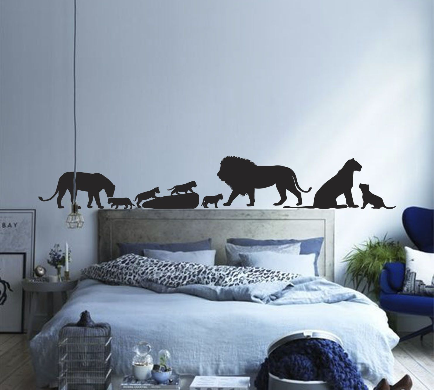 Lion King Wall Decal, Lion Family Decal, Lion Wall Sticker,