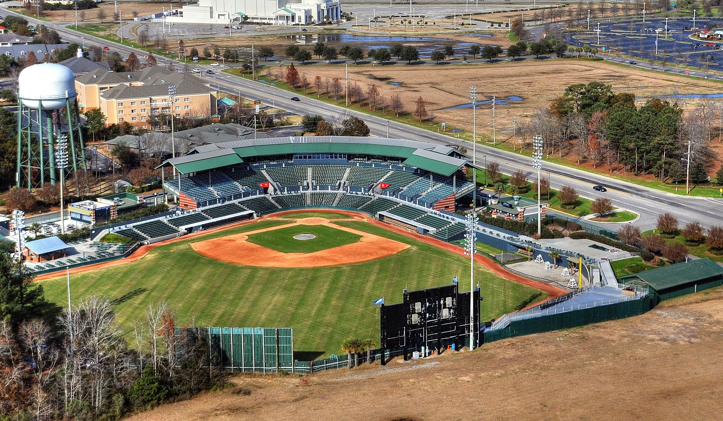 The Myrtle Beach Pelicans Field! A great place to catch a