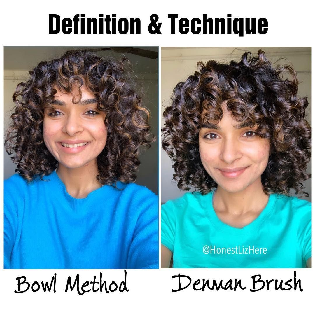 When I Was Looking For Something To Help Form Curl Clumps There It Was Learn How Denman Brush Helps M Denman Brush Curly Hair Techniques Curly Hair Treatment