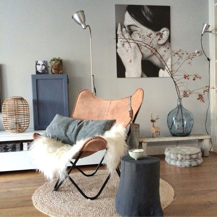 10x de mooiste interieurs met grijze muren | Living rooms, Interiors ...
