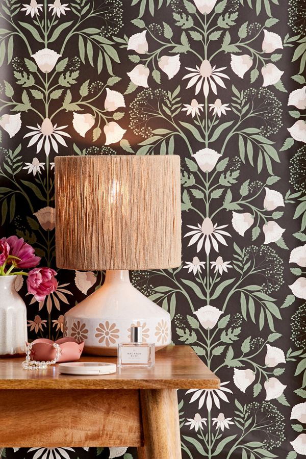 Camille Floral Removable Wallpaper In 2020 Removable Wallpaper Stick On Wallpaper Urban Outfitters Wallpaper