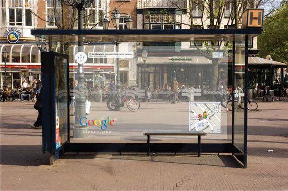 Google Street View Ads Werbung Outdoor Advertising Google Street View Street Marketing