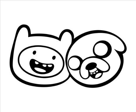 Adventure Time Car Decal Jake and Finn | Cars | Pinterest
