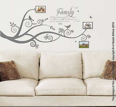 Family Tree Bird, Family Quote, Vinyl Wall Art Stickers Decal Murals ...