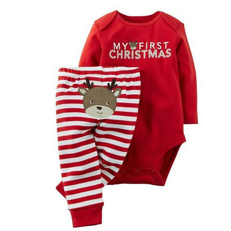 Click to Buy \u003c\u003c 2Pcs/Set New Christmas Newborn Baby Boy Girl Clothes