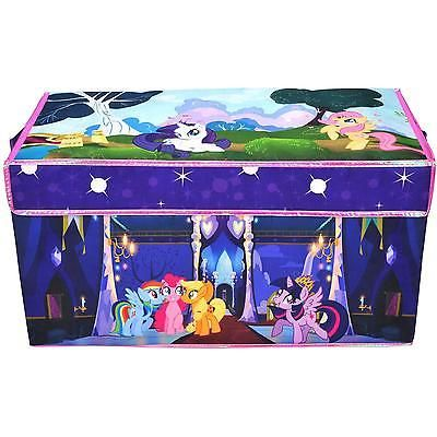 Kids Collapsible Storage Bin Trunk Toy Organizer Chest Little Pony Playroom  Box