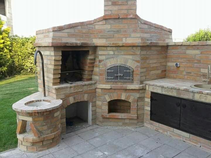 Pin by babygirl1392 on ideas for the home cocina exterior horno cocinas - Hornos para casa ...