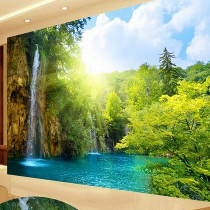 Custom Large Video Wall Murals Beautiful Landscape 3D Wallpaper The Living Room