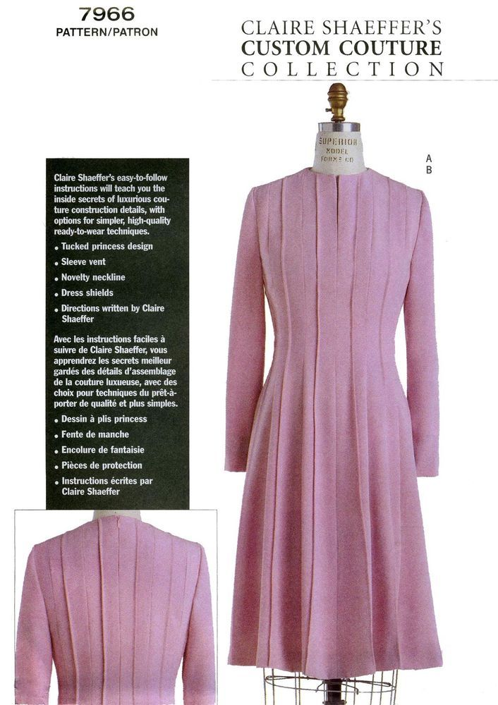 Vogue 7966 Semi-fit/Flared DRESS - Claire Shaeffer Custom Couture ...