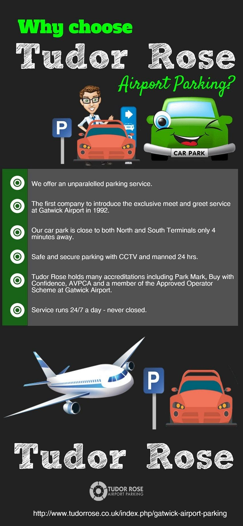 Why Choose Tudor Rose Airport Parking Car Parking Gatwick Airport