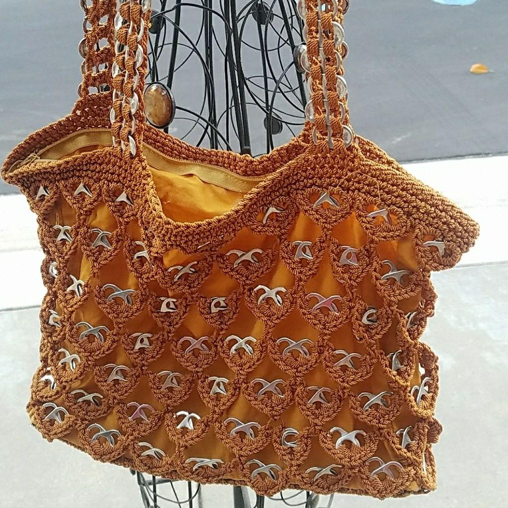 Handmade Recycled Crocheted Shoulder Bag