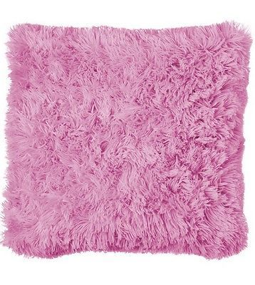 Soft faux fur cushion cover sofa or bed, shaggy & cuddly pink NEW | eBay