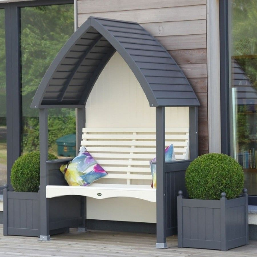 AFK Cottage Arbour Charcoal and Cream