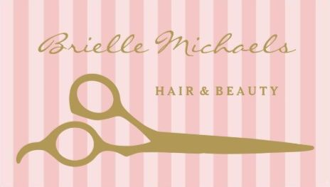 Chic pink stripes with gold hair cutting shears hair and beauty chic pink stripes with gold hair cutting shears hair and beauty business cards httpzazzle reheart Gallery
