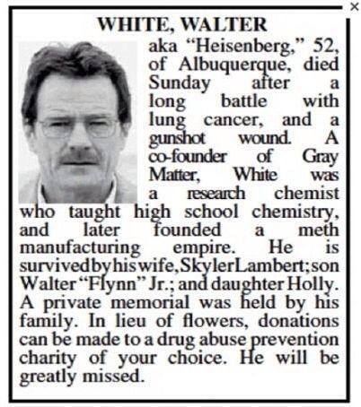The Albuquerque Journal Has a Huge 'Breaking Bad' Finale Spoiler Today - http://robotmutant.com/albuquerque-journal-huge-breaking-bad-finale-spoiler-today/
