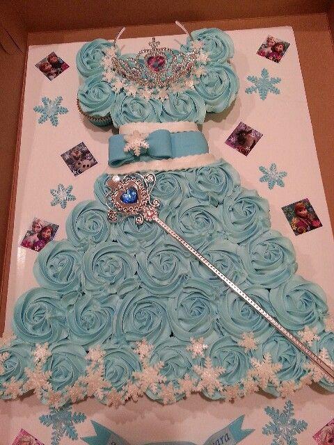 Frozen Dress Cupcake Cake Cake Art Pinterest Frozen dress