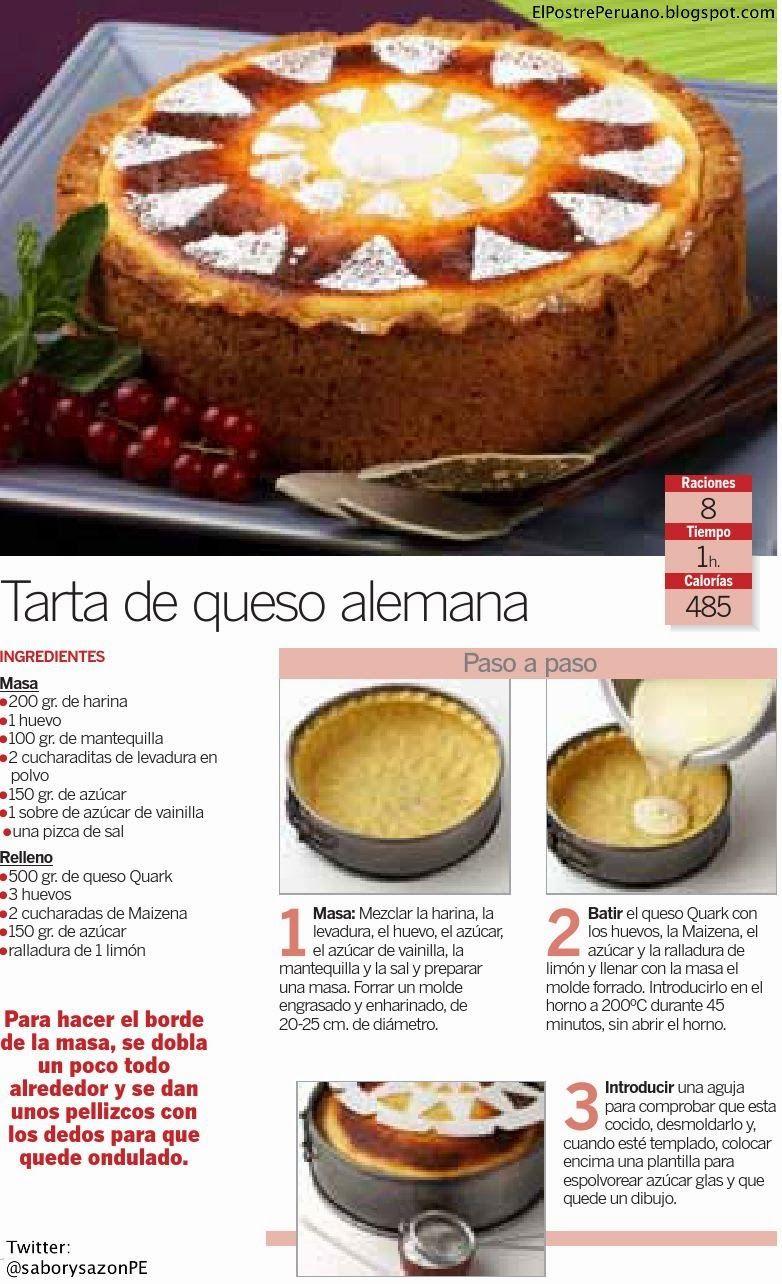 Receta sencilla de tarta de queso alemana postres for Postres faciles