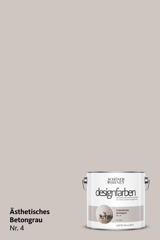 Designfarbe Asthetisches Betongrau Nr 4 Schoner Wohnen Farbe Wandfarbe Kuche Farben Fur Wande