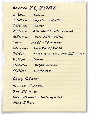 Navy Seal Workout Routine Chart : workout, routine, chart, Ultramarathoner, David, Goggins, Daily, Workout, Routine., Think, Hard,, Workout,, Plan,, Routine