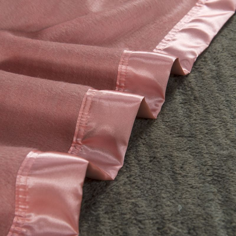 100 mulberry silk blanket silk throw pink color