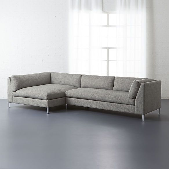 decker 2 piece sectional sofa left arm chaise right arm sofa