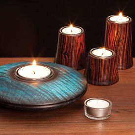 These Heavy Glass Tea Light Candle Holders Are Designed To