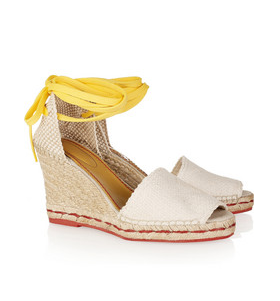 espadrilles x wedge hot!  See by Chloé:  Woven canvas wedge espadrilles  http://www.net-a-porter.com/product/190247