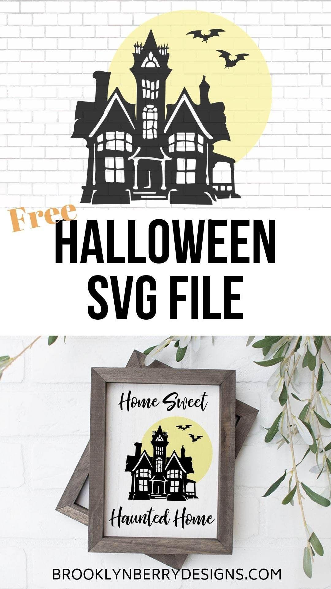 Free Haunted Home SVG Halloween sewing, Halloween design