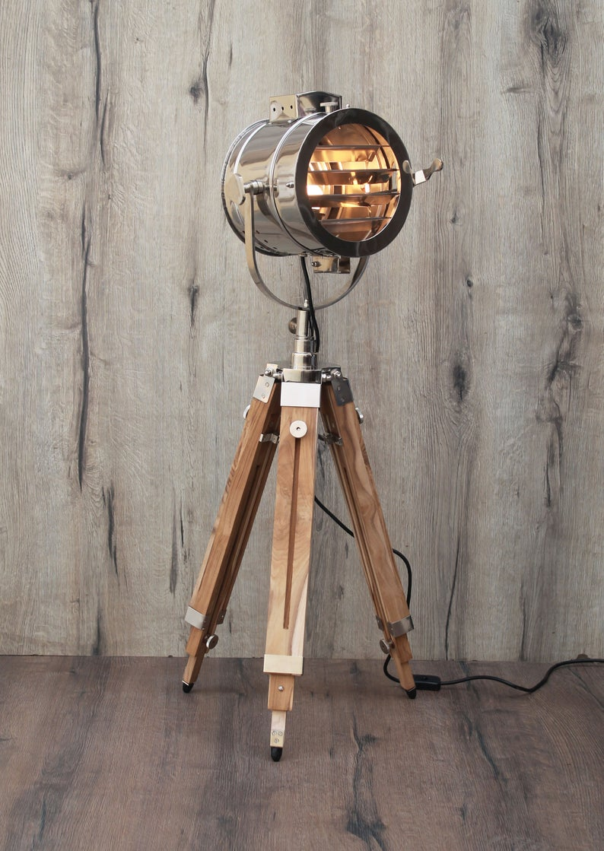Vintage Wooden Teak Finish Tripod Floor Lamp Home Decor Etsy In 2020 Tripod Floor Lamps Tripod Floor Floor Lamp
