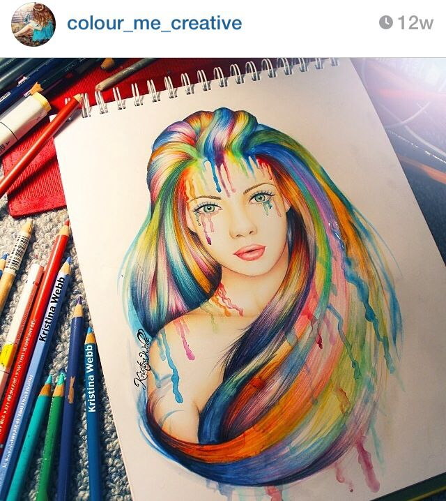 love artist. woman with multi