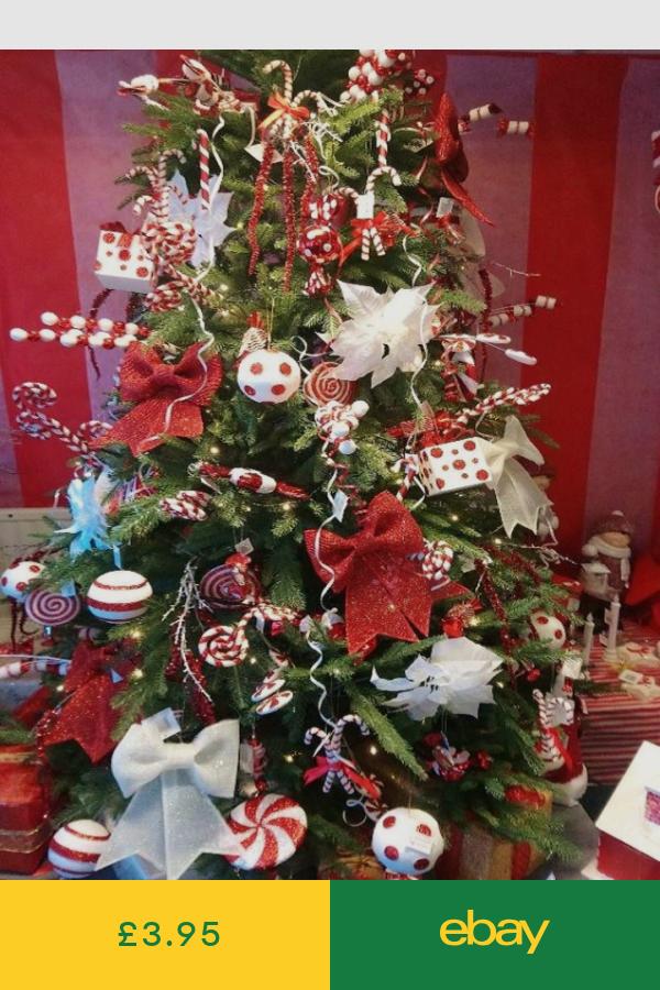 Christmas Tree Ornaments Home Furniture Diy Ebay With Images Red Christmas Tree Christmas Tree Decorations Christmas Tree Decorations Items