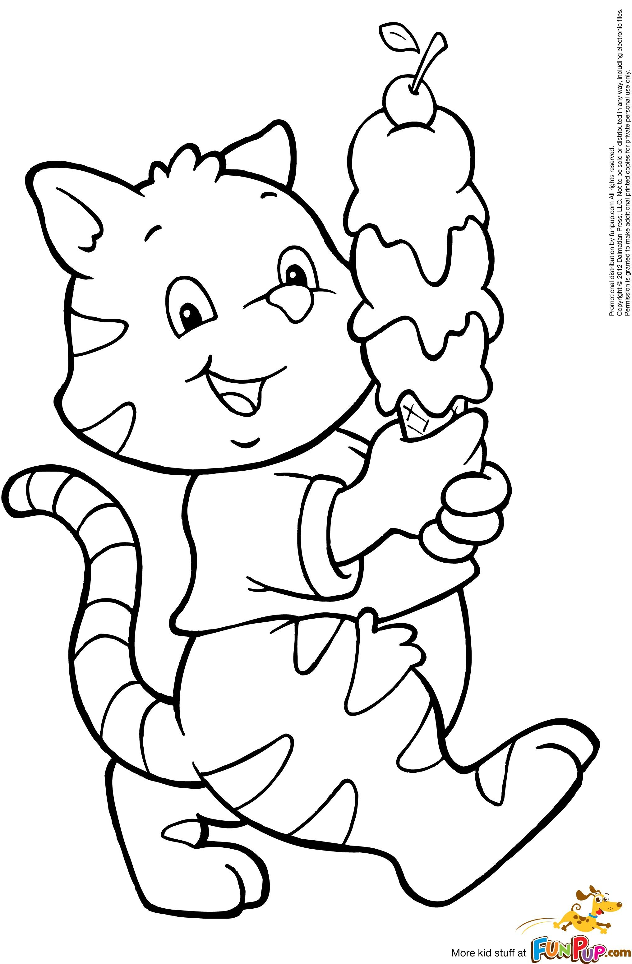 Cat ice cream coloring pages ~ Ice Cream Cat $0.00 | Coloring pages | Pinterest | Digi stamps