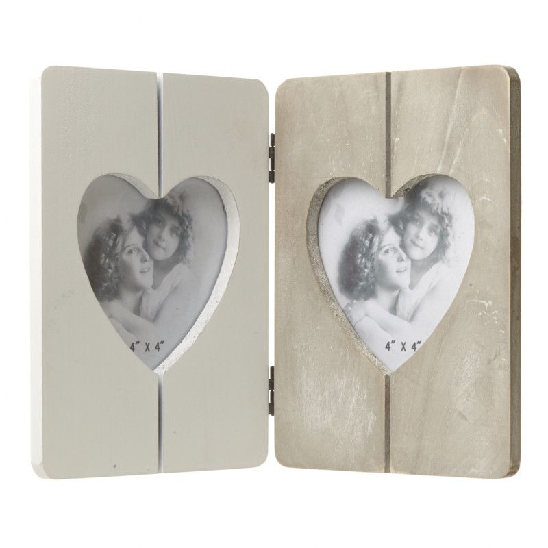 Wooden Double Heart Frame | Quirky gifts and Products
